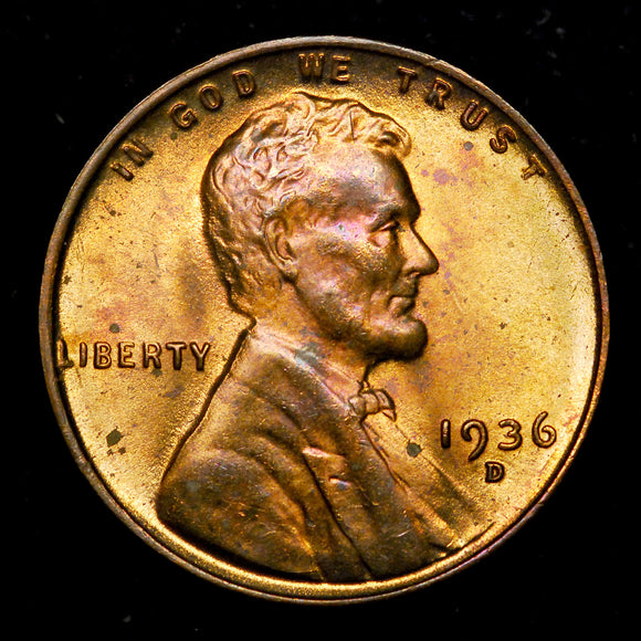 1936-D Lincoln Wheat cent - Ch-GEM BU