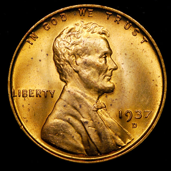 1937-D Lincoln Wheat cent - Ch-GEM BU