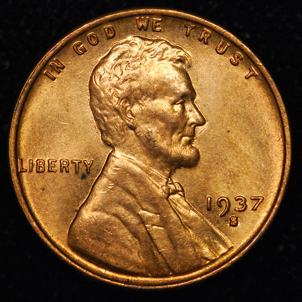 1937-S Lincoln Wheat cent - GEM BU