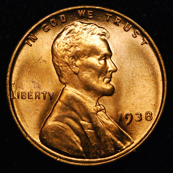 1938-P Lincoln Wheat cent - GEM BU