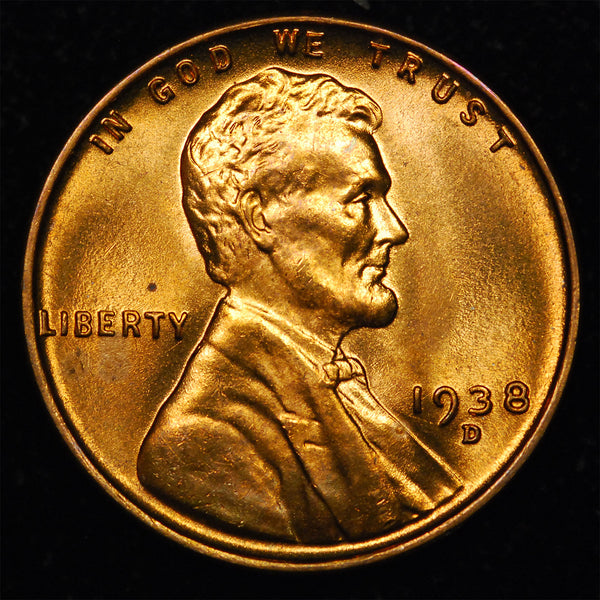 1938-D Lincoln Wheat cent - GEM BU