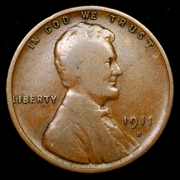 1911-S Lincoln Wheat cent - G