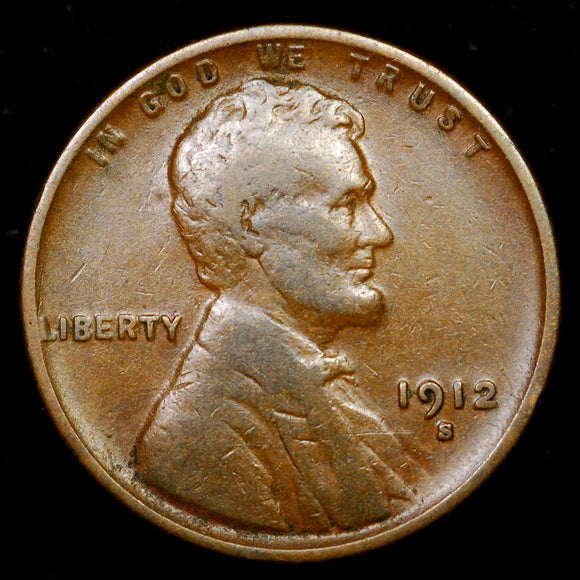 1912-S Lincoln Wheat cent - VF