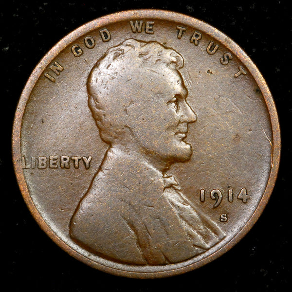 1914-S Lincoln Wheat cent - VG