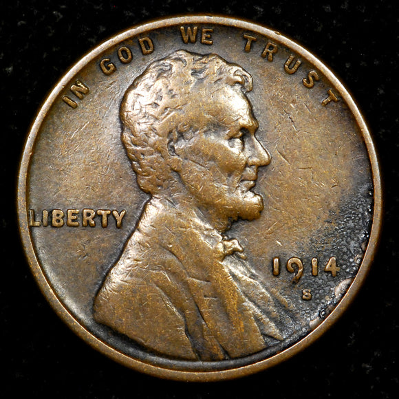 1914-S Lincoln Wheat cent - VF