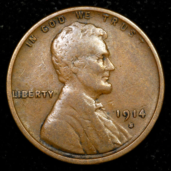 1914-S Lincoln Wheat cent - VF+