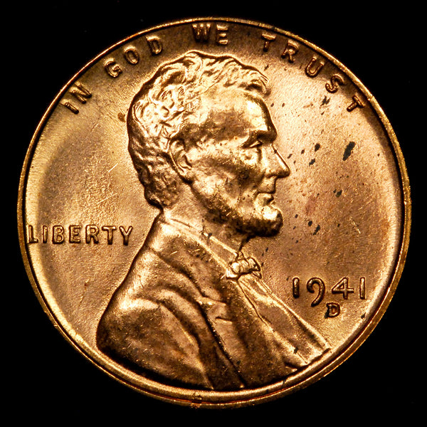 1941-D Lincoln Wheat cent - Ch-GEM BU