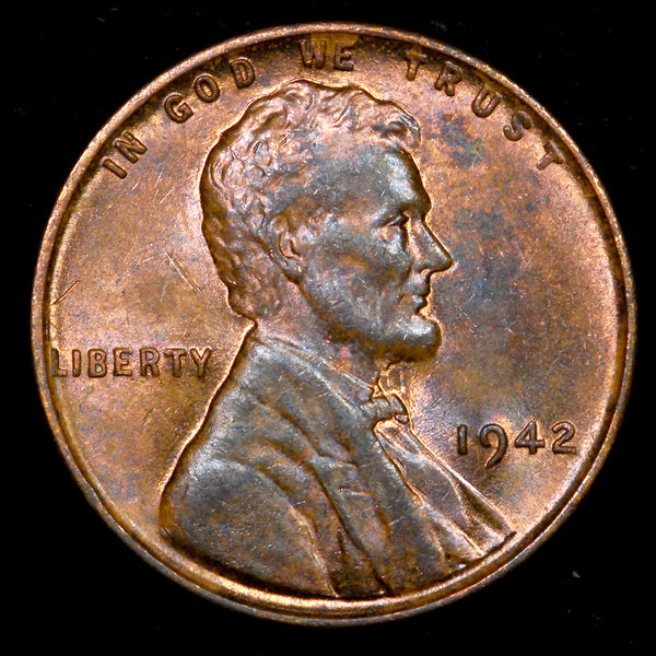 1942-P Lincoln Wheat cent - Ch Unc