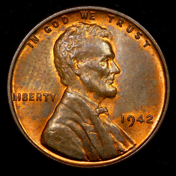 1942-P Lincoln Wheat cent - Ch MS