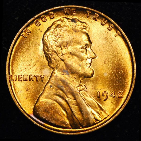 1942-P Lincoln Wheat cent - GEM BU