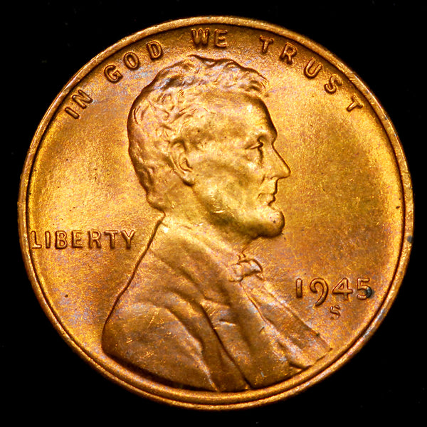 1945-S Lincoln Wheat cent - GEM BU