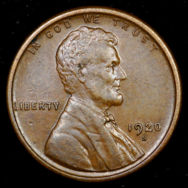 1920-S Lincoln Wheat cent - AU