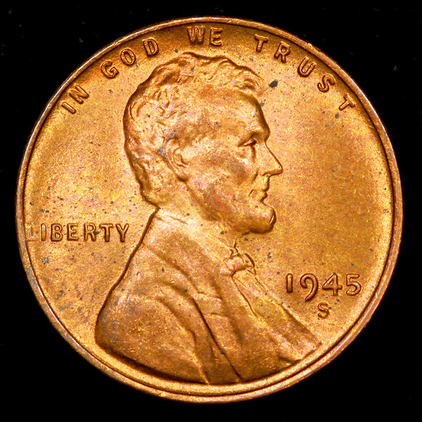 1945-S Lincoln Wheat cent - Ch-GEM BU