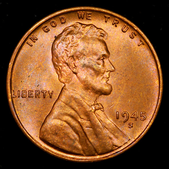 1945-S Lincoln Wheat cent - GEM Unc