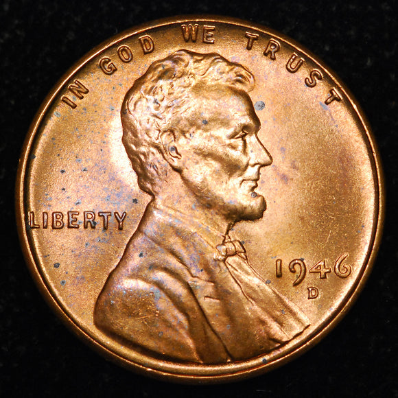 1946-D Lincoln Wheat cent - Ch-GEM BU
