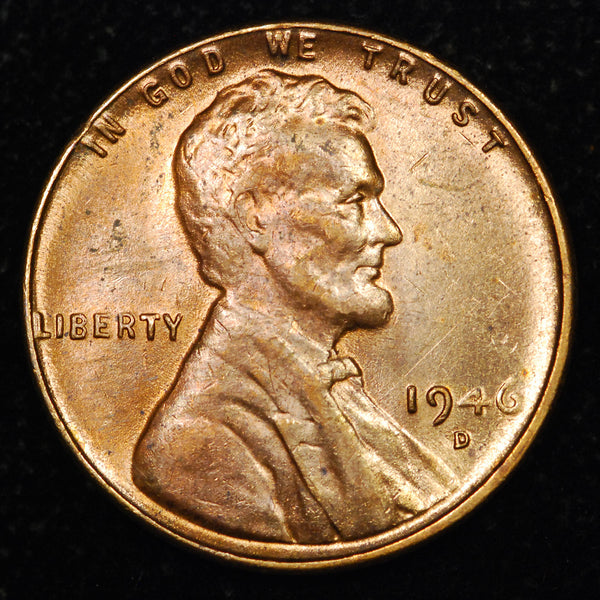1946-D Lincoln Wheat cent - Ch MS