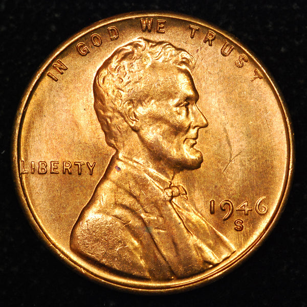 1946-S Lincoln Wheat cent - GEM BU PL