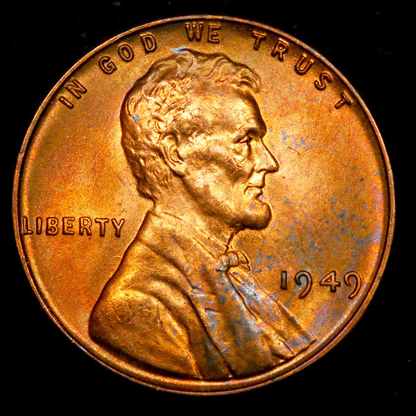 1949-P Lincoln Wheat cent - GEM Unc Toned!