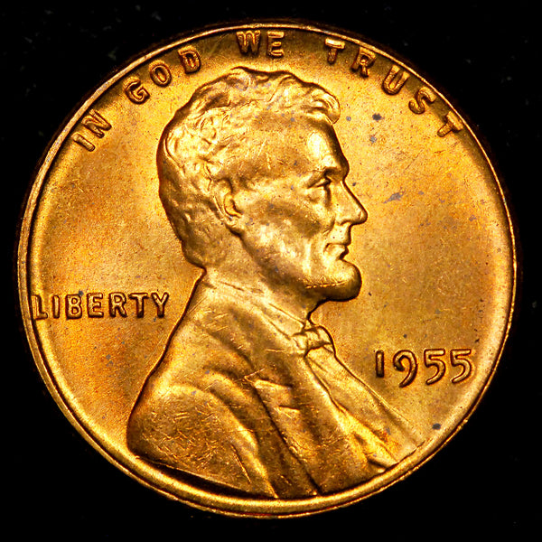 1955-P Lincoln Wheat cent - GEM BU