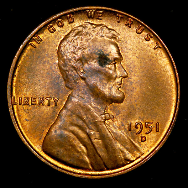 1951-D Lincoln Wheat cent - Ch MS