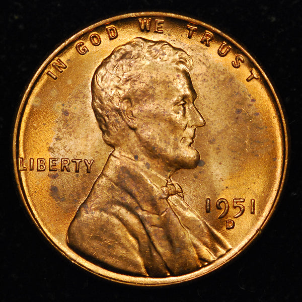 1951-D Lincoln Wheat cent - Ch BU