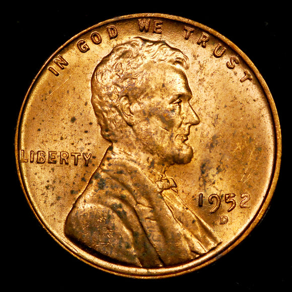 1952-D Lincoln Wheat cent - Ch BU