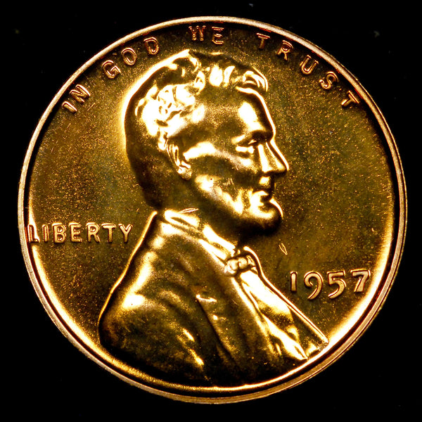 1957-P Proof Lincoln Wheat cent - Ch PF