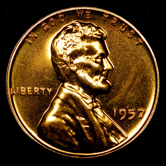 1957-P Proof Lincoln Wheat cent - Ch-GEM PF
