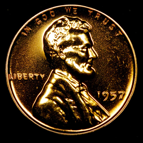 1957-P Proof Lincoln Wheat cent - GEM PF