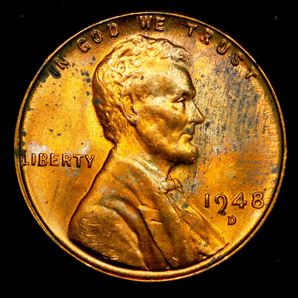 1948-D Lincoln Wheat cent - Ch MS