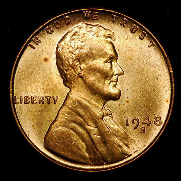 1948-S Lincoln Wheat cent - Ch BU