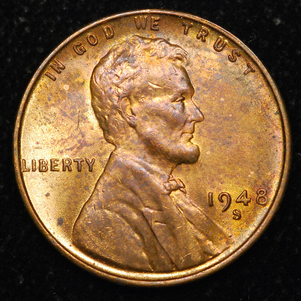 1948-S Lincoln Wheat cent - Ch MS