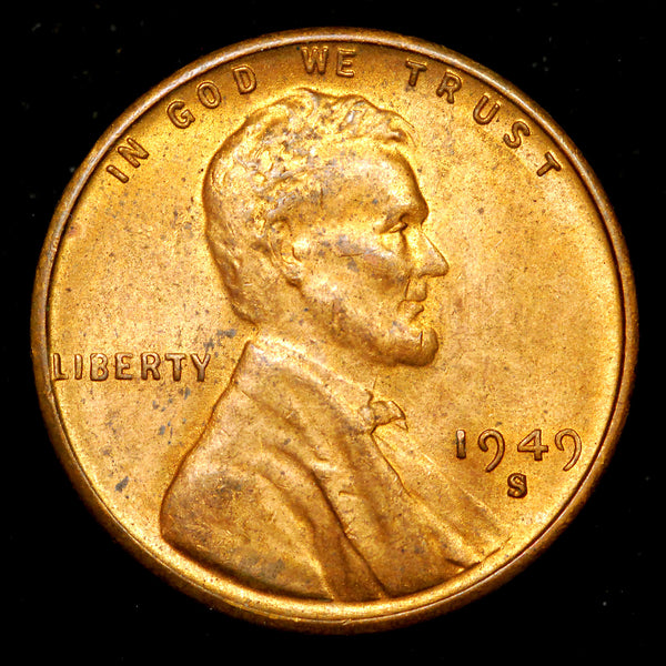 1949-S Lincoln Wheat cent - Ch MS