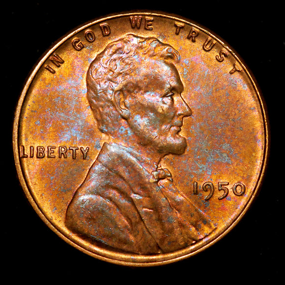 1950-P Lincoln Wheat cent - Ch MS - Toned!
