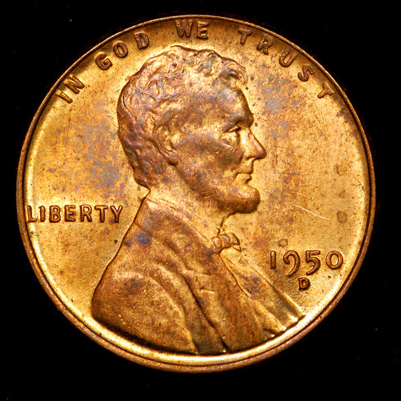 1950-D Lincoln Wheat cent - Ch MS