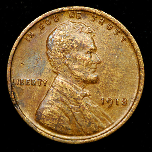 1918-P Lincoln Wheat cent - WOODY! - AU+