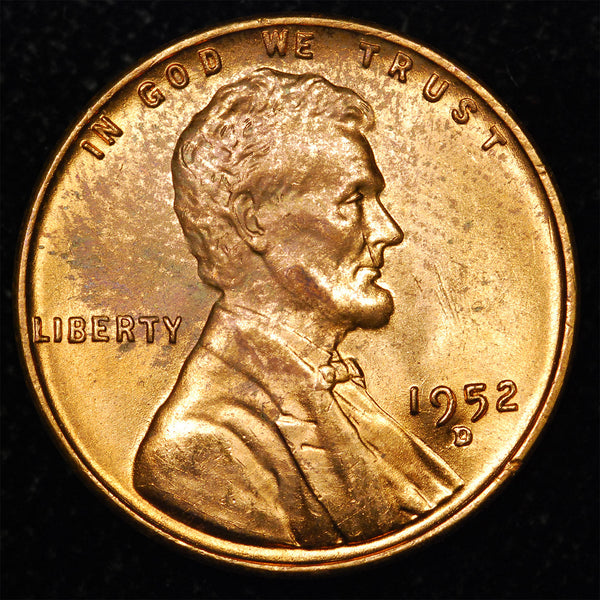 1952-D Lincoln Wheat cent - Ch MS