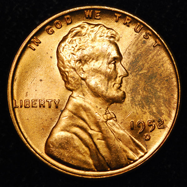 1952-D Lincoln Wheat cent - Ch-GEM MS