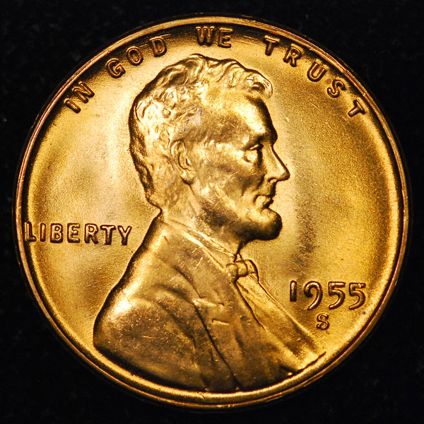 1955-S Lincoln Wheat cent - GEM BU