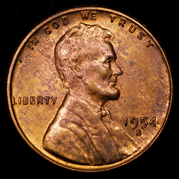 1954-S Lincoln Wheat cent - Ch MS