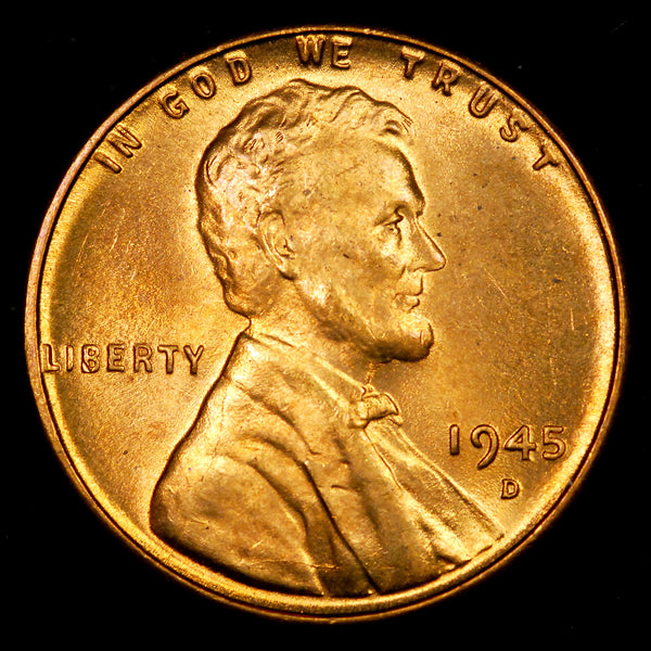 1945-D Lincoln Wheat cent - Ch-GEM BU