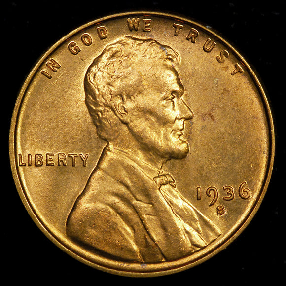 1936-S Lincoln Wheat cent - Ch-GEM BU