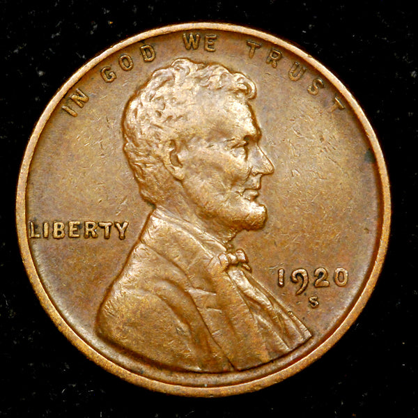 1920-S Lincoln Wheat cent EF