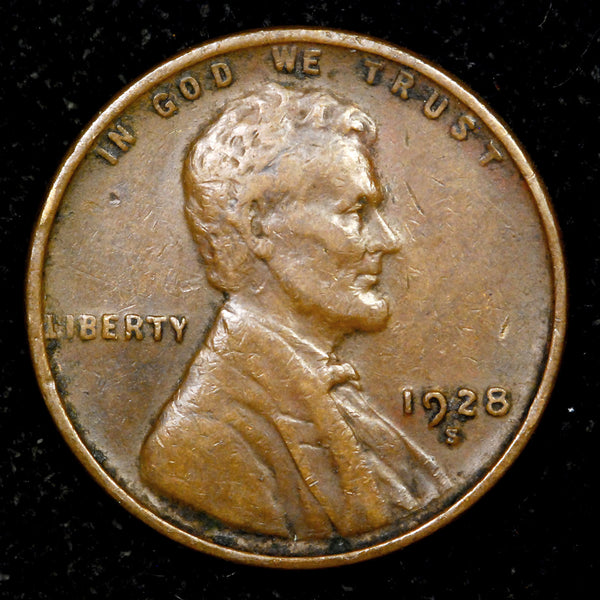 1928-S Lincoln Wheat cent VF