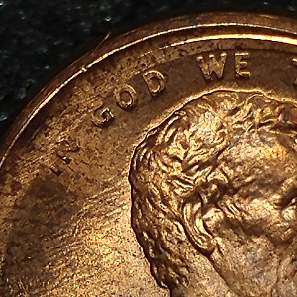 1986 P Lincoln Cent: Sel BU : Error : Struck 10% Off Center