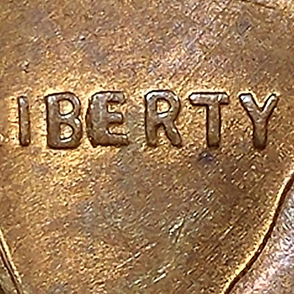 1957 D Lincoln Cent : Ch MS : Error : BIE Die Break