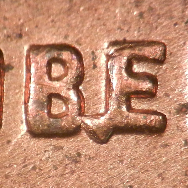 1955-D Lincoln Wheat Cent BIE error - Ch BU