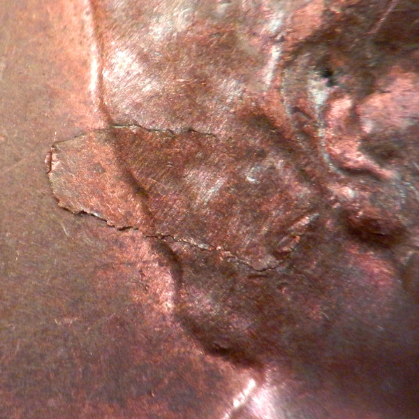 1956-P Lincoln Cent Ch Unc Error Lamination Peel Obverse