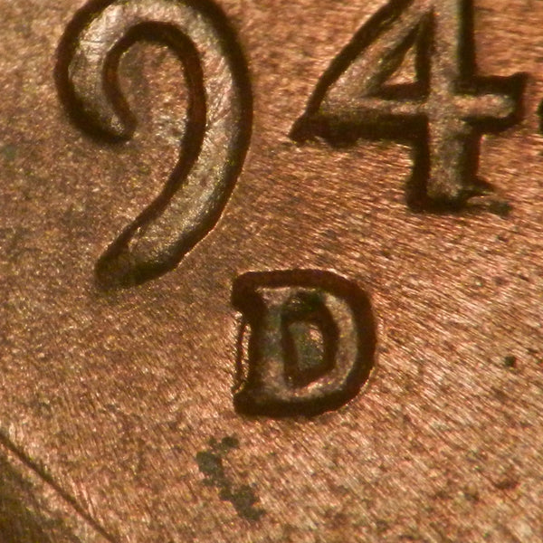 1944-D Lincoln Wheat Cent : GEM BU : 1MM-012 (RPM-012)