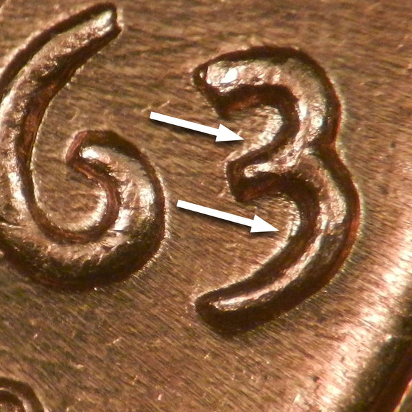 1963-D Lincoln Cent : Ch-GEM BU : 1DO-006